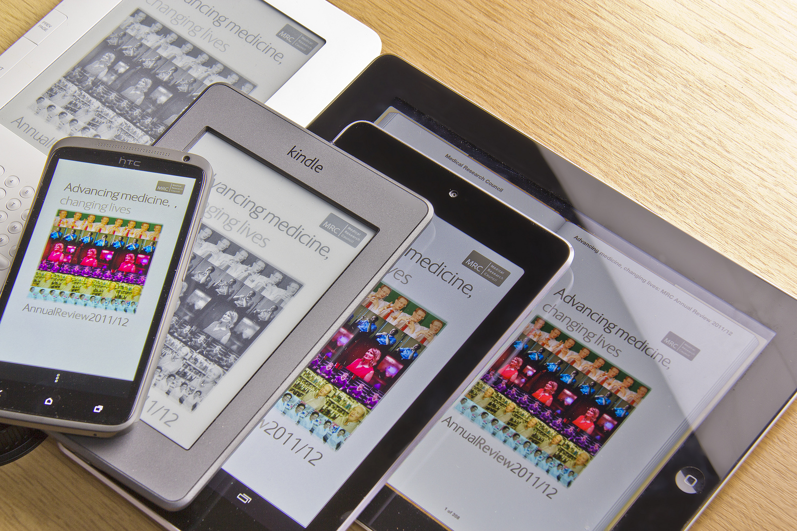 The ebook on multiple devices